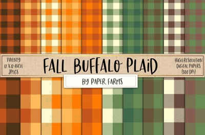 Fall buffalo plaid backgrounds