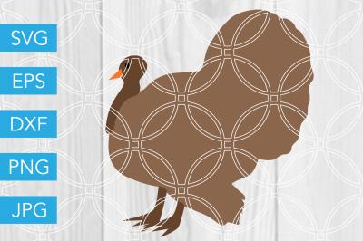 Thanksgiving Turkey SVG DXF EPS JPG Cut File Cricut Silhouette