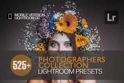 525+ Photographers Collection Lightroom Mobile bundle (Presets for Lig
