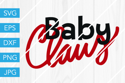 Baby Claus ChristmasSVG DXF EPS JPG Cut File Cricut Silhouette Cameo