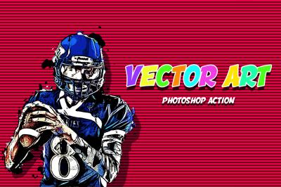 Vector Art Photoshop Action