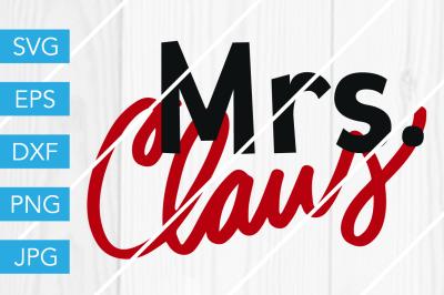 Mrs Claus Christmas SVG DXF EPS JPG Cut File Cricut Silhouette Cameo