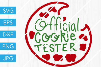 Official Cookie Tester SVG DXF EPS JPG Cut File Cricut Silhouette