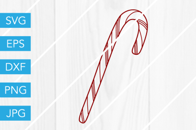 Candy Cane ChristmasSVG DXF EPS JPG Cut File Cricut Silhouette Cameo