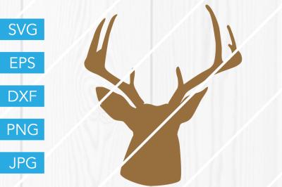 Deer Head Silhouette SVG DXF EPS JPG Cut File Cricut Silhouette Cameo