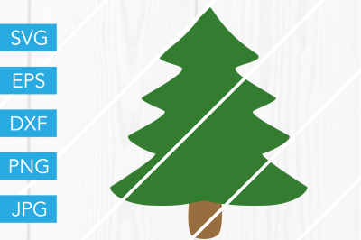 Christmas Tree SVG DXF EPS JPG Cut File Cricut Silhouette Cameo