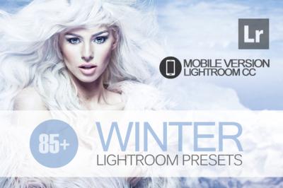85+ Winter Lightroom Mobile bundle (Presets for Lightroom Mobile CC)