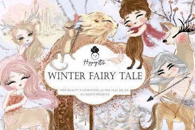Winter Fairy Tale Clipart, Fairy tale Clip Art