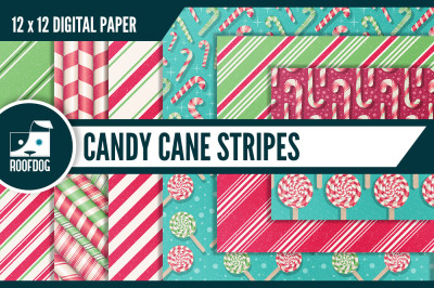Candy Cane Stripe Digital Paper