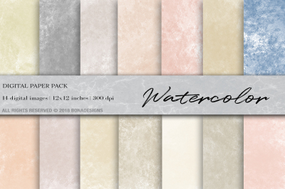 Watercolor Digital Paper, Watercolor Background