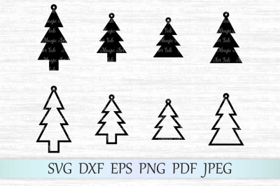 Christmas SVG, Christmas earrings cut file, Happy new year SVG, Xmas