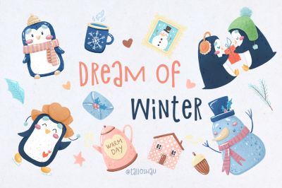 Dream of Winter.Christmas collection