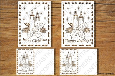 Merry Christmas, Greeting Card SVG files for Silhouette  and Cricut.
