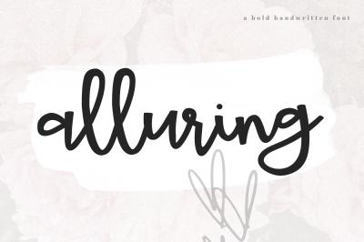 Alluring - A Bold Handwritten Script Font