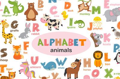 alphabet with animals