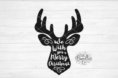 Deer Head - We Wish You a Merry Christmas SVG