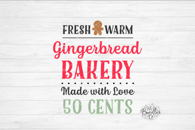 Gingerbread Bakery Sign SVG