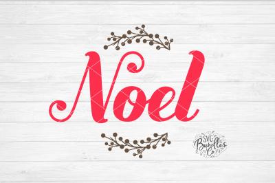 Noel Christmas Script SVG DXF PNG