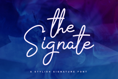 The Signate - a stylish signature font