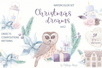 Christmas Dreams vol.2 - Watercolor Set