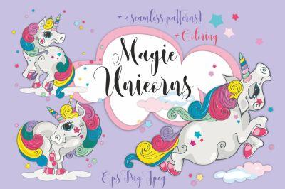 Magical unicorns.