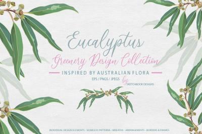 Eucalyptus Greenery Design Set