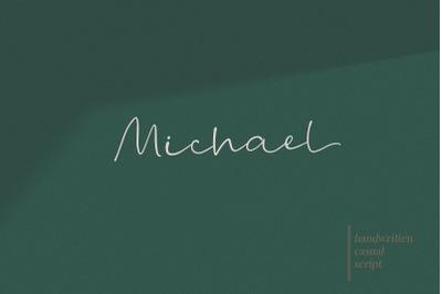 Michael - a modern handwritten font