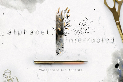 Alphabet Interrupted Watercolor Set