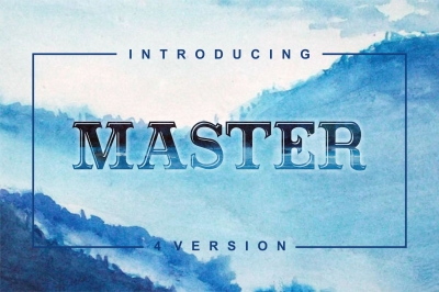 Masterpiece - serif font in 4 versions