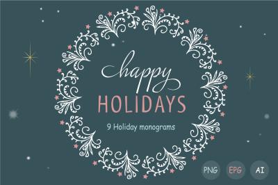 Holiday monograms