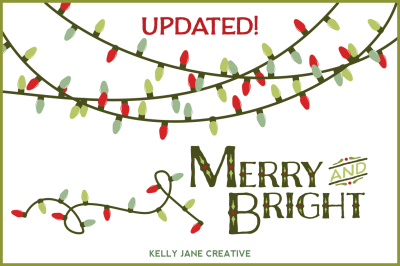 Christmas String of Lights - Merry & Bright
