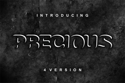Precious - 4 versions modern font