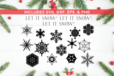 Snowflakes SVG DXF EPS PNG