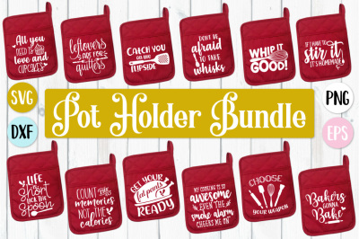 Pot Holder Bundle - SVG, PNG, EPS, DXF