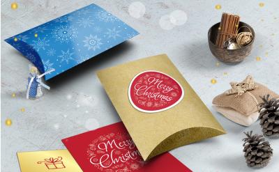 Pillow Gift box template.