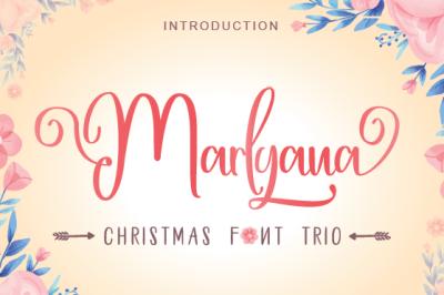 Happy Marlyana font trio