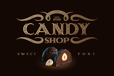 Candy Shop font with bonus