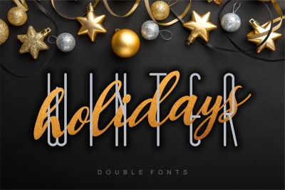 Winter Holidays - combined double fonts