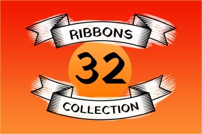 Vector Ribbons in Vintage Style
