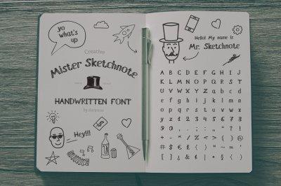 Mister Sketchnote Handwritten Font