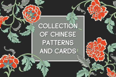 Floral Chinese patterns and cards