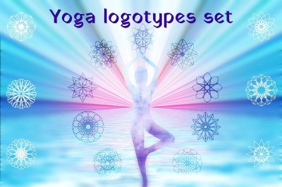 Yoga studio vector logo templates