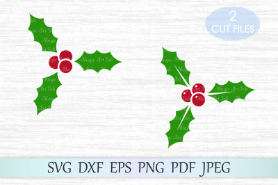 Holly svg, Holly berry SVG, Christmas Svg