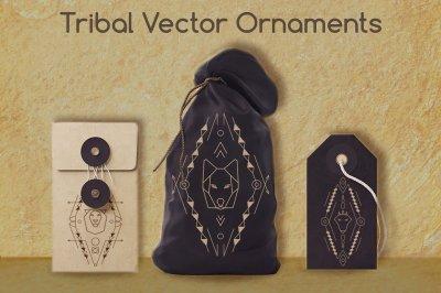 3 tribal animal ornaments