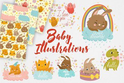 Baby Illistrations/ kid patterns