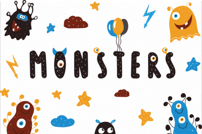 Monster vector clipart