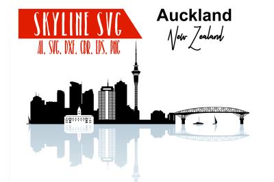 Auckland Vector Skyline, Auckland SVG, silhouette