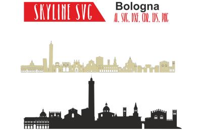 Bologna Svg, Italy city, Vector Skyline, Bologna silhouette, Svg