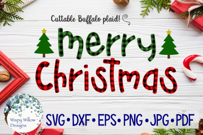 Merry Christmas  | Buffalo Plaid SVG