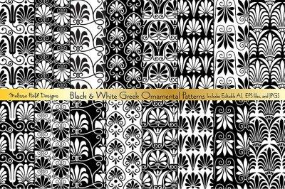 Seamless Greek Ornamental Patterns